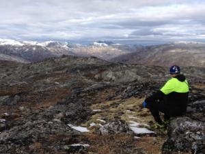 Utsikt frå Viahøi mot Sunnmørsfjella.